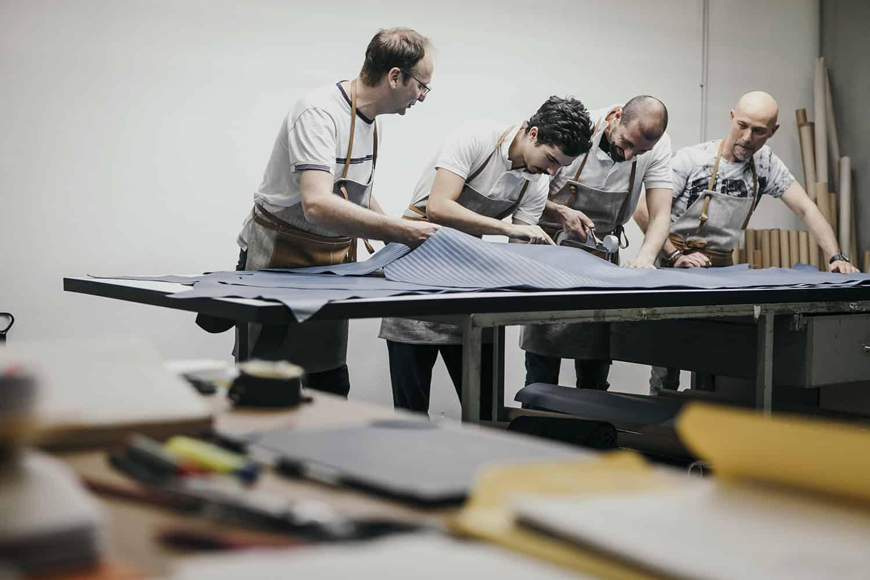 fotografo reportage industriale Vicenza industria borse in pelle Zanellato